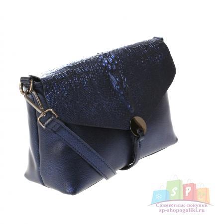 5eb73b8f026b Стильная женская сумочка через плечо Crols_Estol из натуральной кожи цвета  темного индиго. всего за 1797 руб.